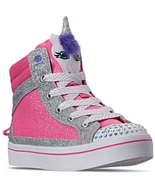 Little Girls Twinkle Toes Twi-Lites Unicorn Pal High Top Casual Sneakers from Finish Line