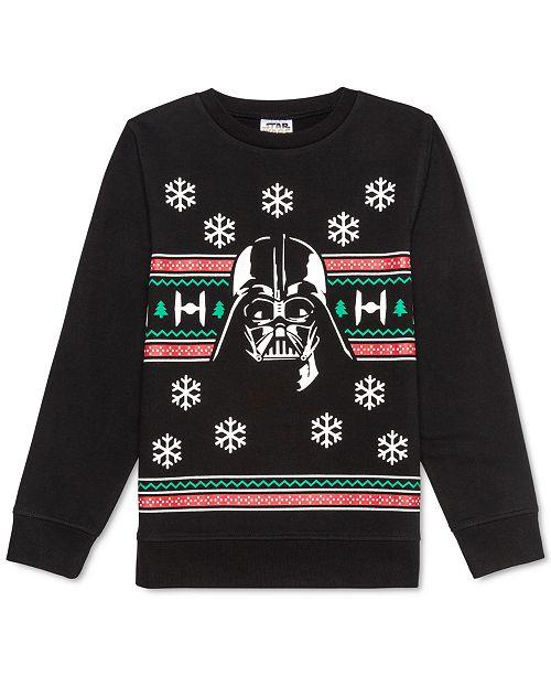Star Wars Big Boys Darth Vader Holiday Sweatshirt