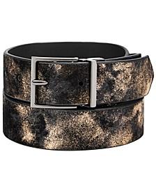 INC Men's Metallic Belt, Created for Macy's
