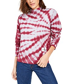 Tie-Dyed Mock-Neck Sweatshirt