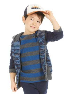 Little Boys Striped Thermal T-Shirt, Created For Macy's