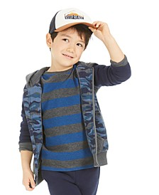 Toddler Boys Striped Thermal T-Shirt, Created For Macy's
