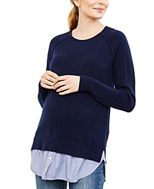 Maternity Layered-Look Sweater