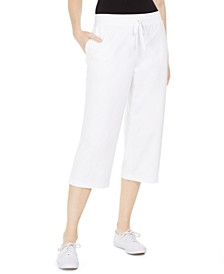 Petite Sport Knit Capris, Created For Macy's