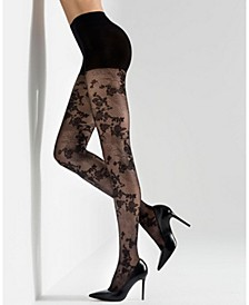 Scarlet Lace Sheer Tights, Online Only