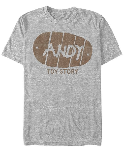 Fifth Sun Disney Pixar Men's Toy Story Wood's Andy Boot Short Sleeve T-Shirt