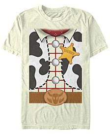 Disney Pixar Men's Toy Story Woody Suit Costume Short Sleeve T-Shirt