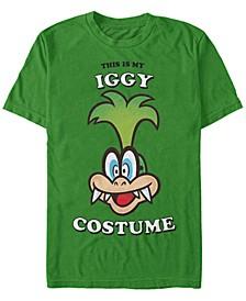 Nintendo Men's Super Mario Iggy Halloween Costume Short Sleeve T-Shirt