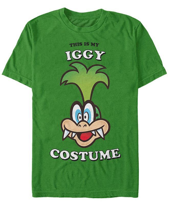 Fifth Sun Nintendo Men's Super Mario Iggy Halloween Costume Short Sleeve T-Shirt