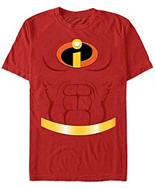 Disney Pixar Men's Incredibles Chest Costume Short Sleeve T-Shirt