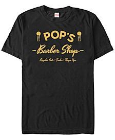 Marvel Men's Luke Cage Pop's Barber Shop Short Sleeve T-Shirt