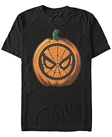 Marvel Men's Spider-Man Mask Pumpkin Carving Short Sleeve T-Shirt