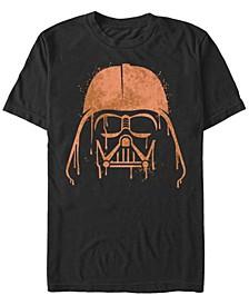 Star Wars Men's Darth Vader Drip Big Face Short Sleeve T-Shirt
