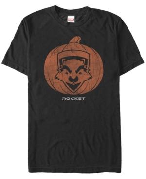 Marvel Men's Guardians of the Galaxy Rocket Pumpkin Face Short Sleeve T-Shirt