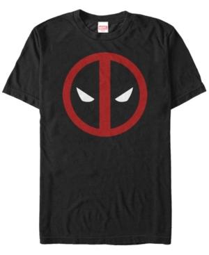 Marvel Men's Deadpool Mask Classic Big Face Short Sleeve T-Shirt