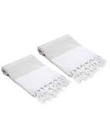 Mini Stripes Didyma Turkish Hand/Kitchen Towel Set of 2