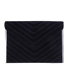 Quilted Chevron Envelop Clutch