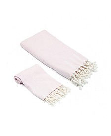 Whisper Weight Turkish Bath and Hand Towel 2 Piece Set