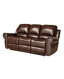 "Benson 84"" Leather Recliner Sofa"