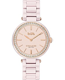 Women's Park Blush Ceramic Bracelet Watch 30mm