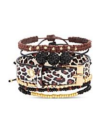 Leopard Print Bracelet Stack Gift Set