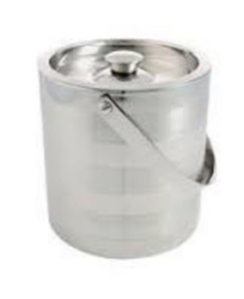 Thirstystone 3 Quart Stainless Steel Satin and Mirror Stripe Ice Bucket