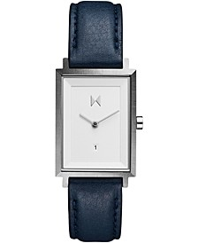 Women's Signature Square Aubrey Navy Leather Strap Watch 24mm
