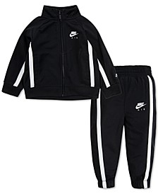Baby Boys 2-Pc. Tricot Zip-Up Jacket & Jogger Pants Track Set