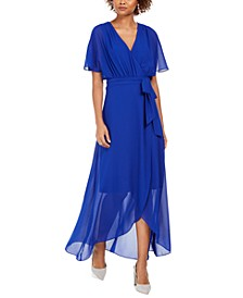 Faux-Wrap Maxi Dress