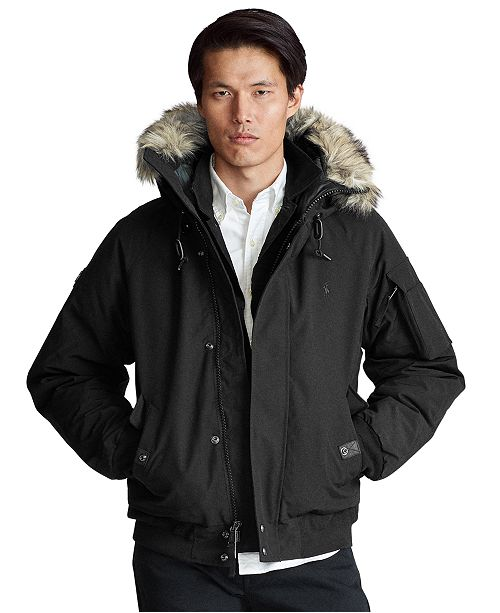 Polo Ralph Lauren Men's Faux-Fur-Trim Down Jacket