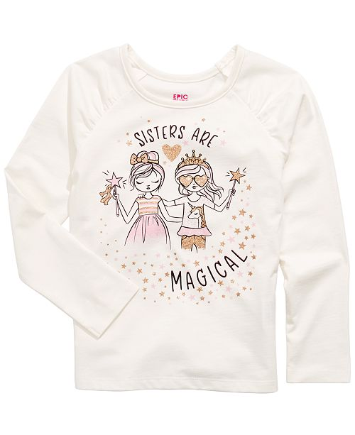 Epic Threads Toddler Girls Sisters Are Magical T-Shirt, Created For Macy's