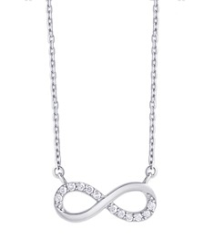 Diamond 1/5 ct. t.w. Infinity Necklace in Sterling Silver