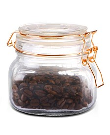 HDS Trading Small Glass Pickling Jar with Clamp