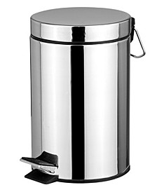Polished Stainless Steel Round Waste Bin