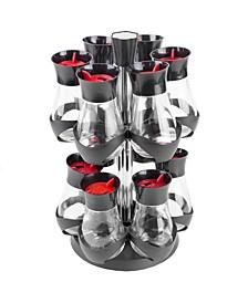 HDS Trading Contemporary Gourmet Revolving 12-Jar 2 Tier Spice Rack