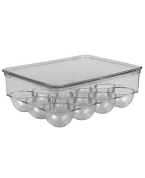 Hds Trading 12 Egg Plastic Holder with Lid