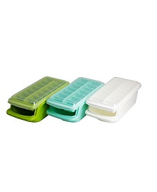 Covered Ice Tray with Storage Bin, Set of 3