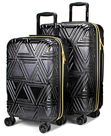 Contour 2 Piece Expandable Hard Spinner Luggage Set