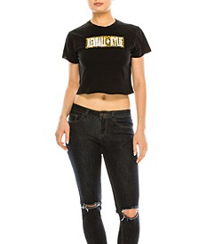 Crew Neck Crop Top Tee