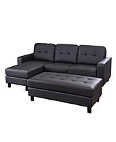 Tufted Leather Sofa - Macy\'s