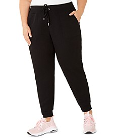 Plus Size Rib-Trim Jogger Pants