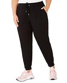 Plus Size Rib-Trim Jogger Pants
