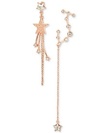 Rose Gold-Tone Crystal Constellation Mismatch Earrings