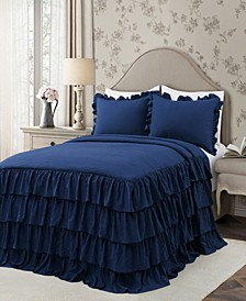 Allison Ruffle 3-Piece Full Bedspread Set