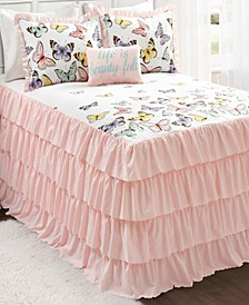 Flutter Butterfly 3-Piece Twin Bedspread Set