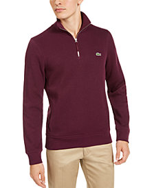 Lacoste Men's French Rib Interlock Quarter-Zip Sweater