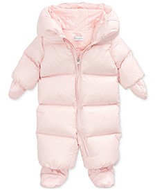 Baby Girls Quilted Down Snowsuit