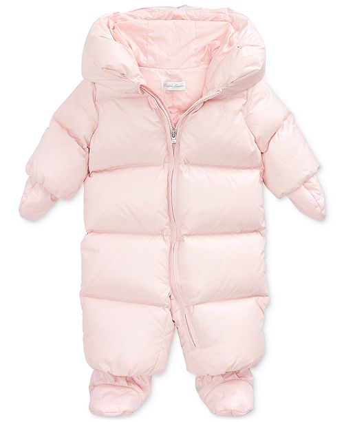 Polo Ralph Lauren Baby Girls Quilted Down Snowsuit