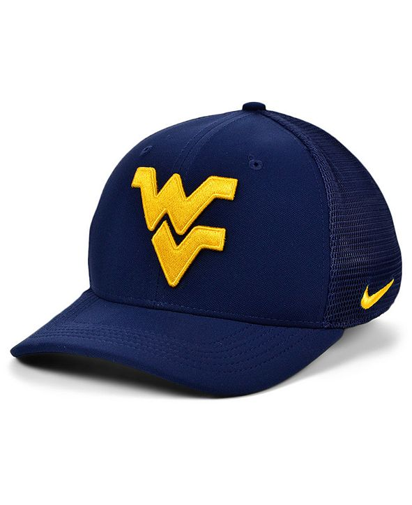 Nike West Virginia Mountaineers Aerobill Mesh Stretch Fitted Cap