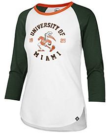 Women's Miami Hurricanes Script Splitter Raglan T-Shirt